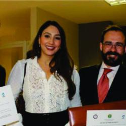 Advogado Rafael Lara Martins recebe homenagem da UFG em comemoração aos 120 anos da Faculdade de Direito da instituição.