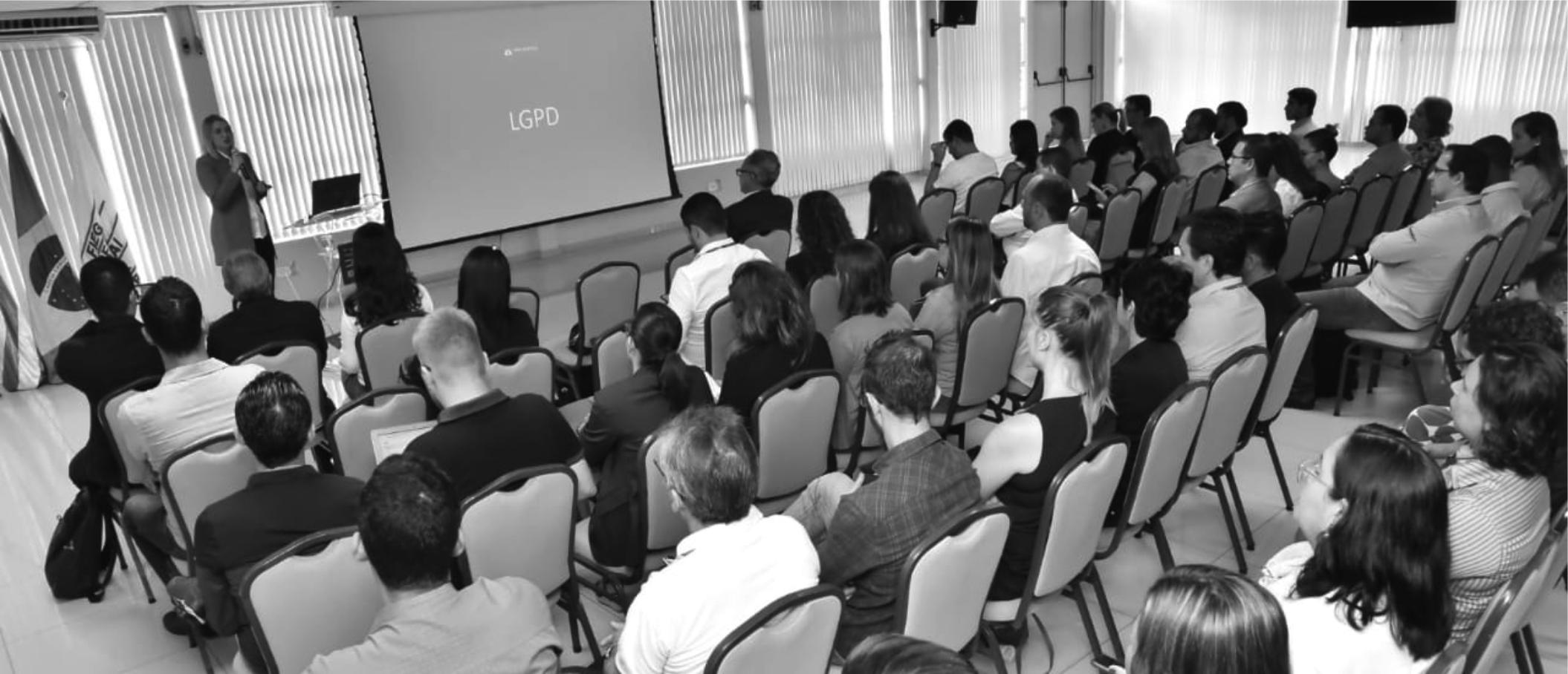 Seminário Lara Martins Advogados na FIEG sobre a Lei Geral de Proteção de Dados.