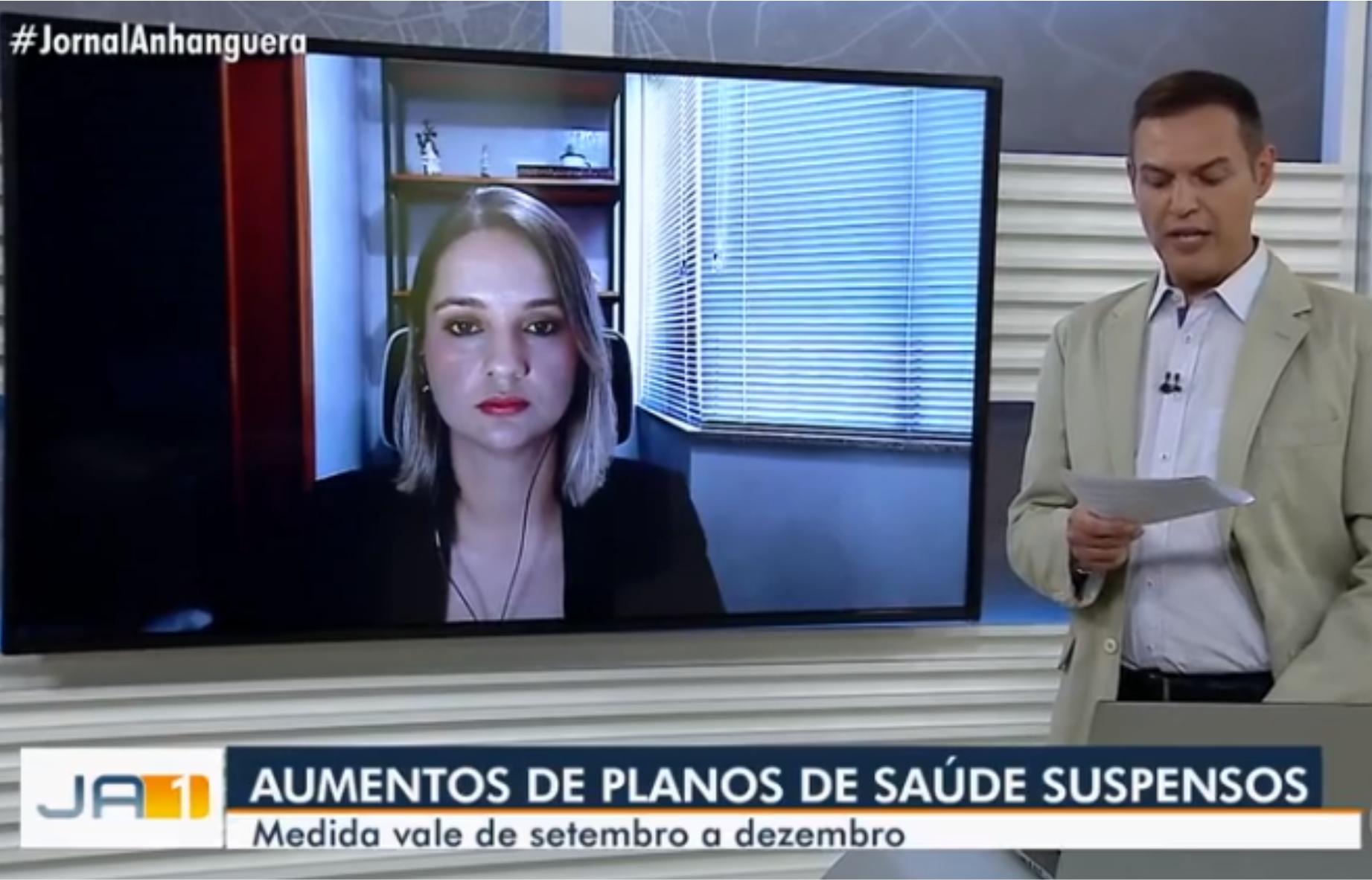 Entrevista Nycolle Soares. Tv Anhanguera. Suspensão nos aumentos dos planos de saúde.